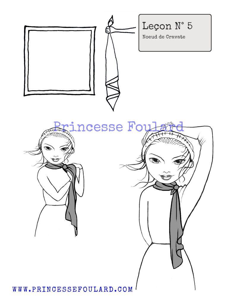 comment porter et nouer son foulard comme une cravate cravates le conseil et foulards. Black Bedroom Furniture Sets. Home Design Ideas