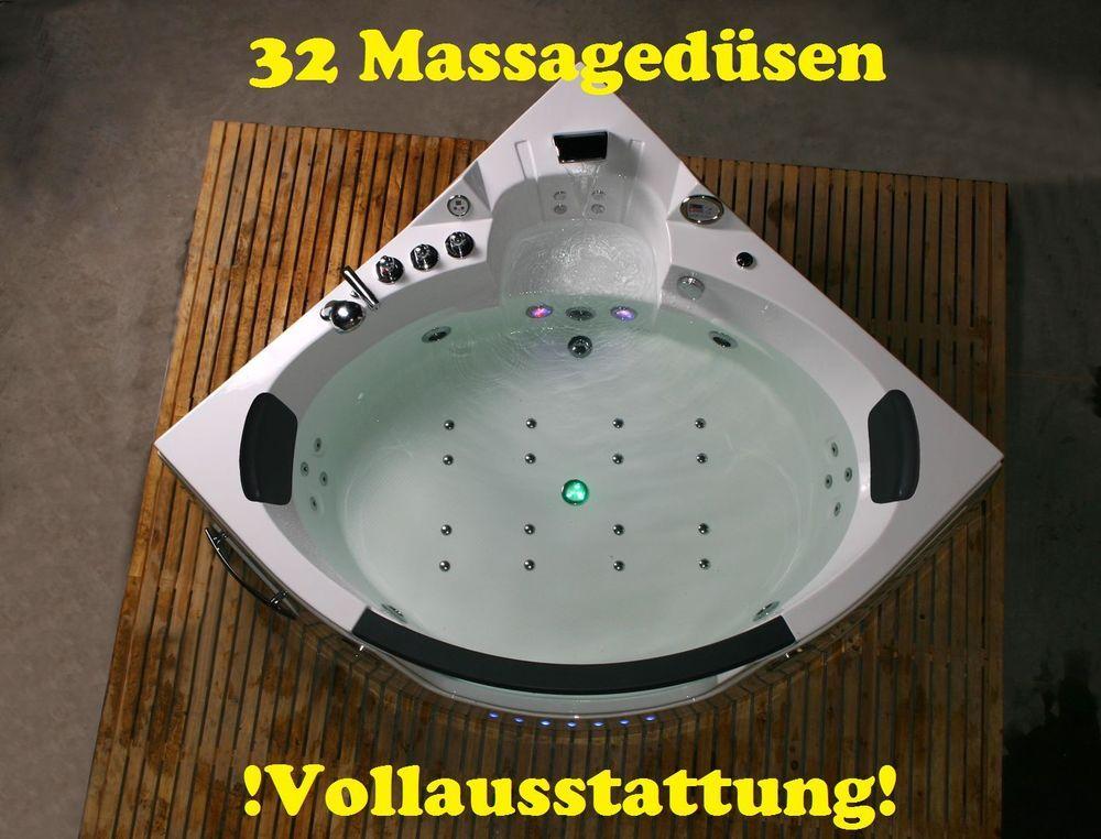 Whirlpool Eckbadewanne Badewanne Wanne für 2 Personen 152x152 oder ... | {Eckbadewanne 2 personen 48}