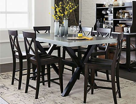 Fine Gathering Table And 6 Stools Art Van Furniture Ideas For Caraccident5 Cool Chair Designs And Ideas Caraccident5Info