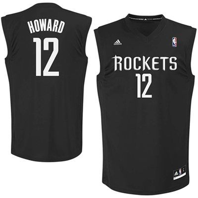 c076613b297 Dwight Howard Houston Rockets adidas Replica Player Jersey - Black ...