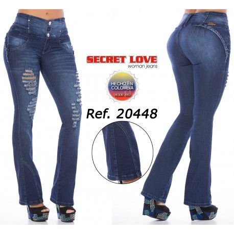Basic Style, Destroyed Jean, Wide Waistband for Better Comfort, Bell Bottoms, Without Back Pockets , High Elasticity Light Weight Fabric, Fits True to Size, 3 Buttons in Front and Zipper, Handmade