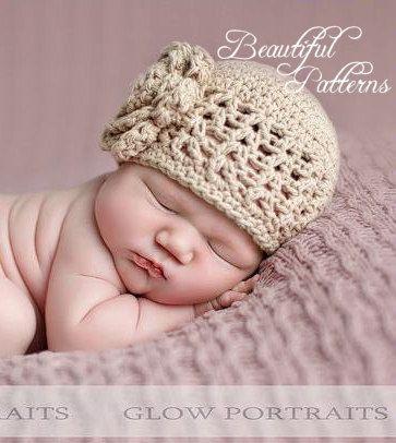Crochet Hat Pattern Baby Girl Crochet Hat V Stitch Flower Hat