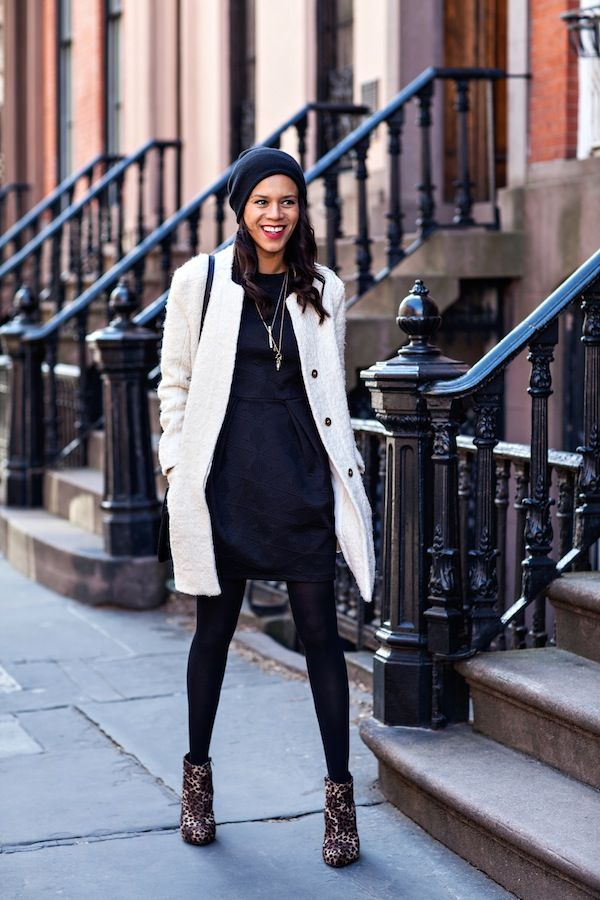 the white coat - ootd - zara coat, h dress, forever 21 boots ...