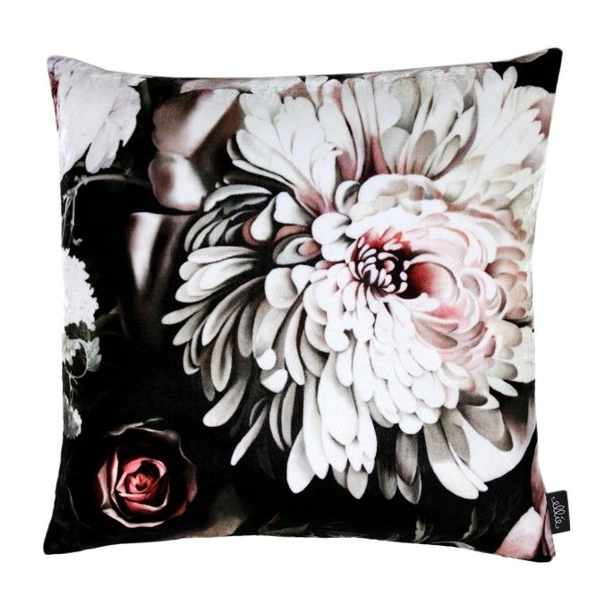Dark Floral Ii Black Saturated Xl Wallpaper: Dark Floral II Black Saturated On Velvet