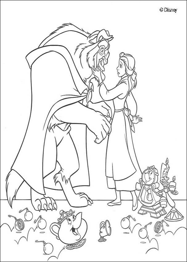 Beauty And The Beast Coloring Pages Beauty And The Beast Disney Coloring Pages Disney Princess Coloring Pages Princess Coloring Pages