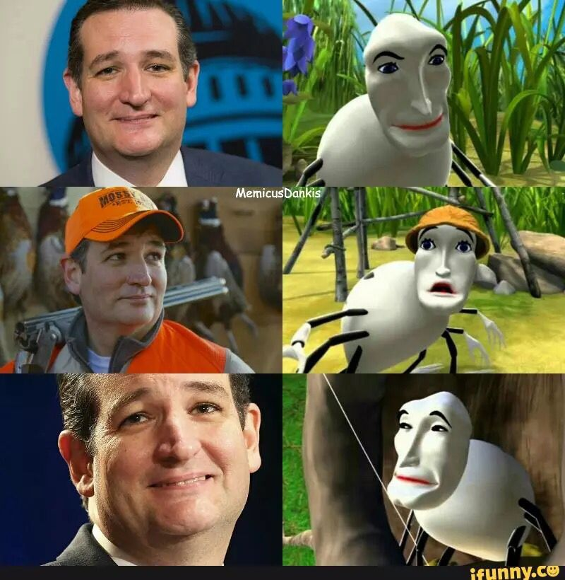 Ted Cruz Is The Zodiac Spider Cartoon Memes Bee Movie Dankest Memes