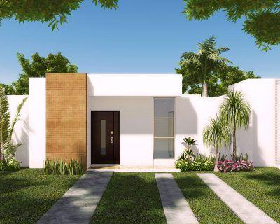 Fachadas de casas modernas de 1 piso sencillas save for Fachada de casa moderna de un piso