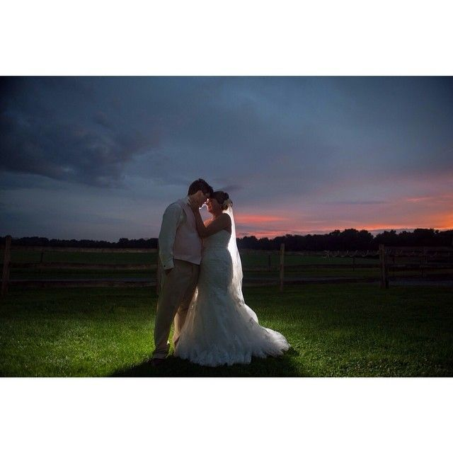 Sunset on Armstrong Farms. It doesn't get much better than #loveonafarm! #armstrongfarms #pittsburghwedding #sunset #pittsburghweddings #pittsburghweddingphotographer