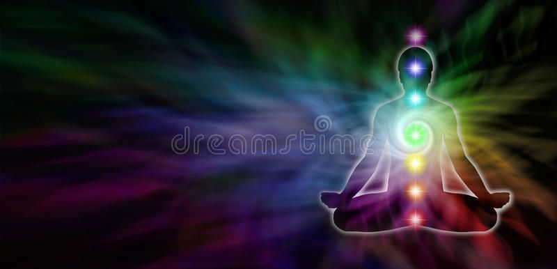Chakra Meditation Website Header Wide Dark Banner With A Rainbow Colored Spiral Sponsored Dark Wide Rainbow Ban Chakra Meditation Chakra Meditation
