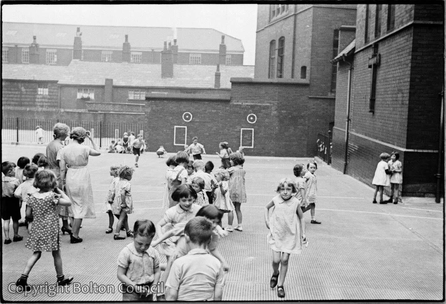 School Playground photographed by Humphrey Spender