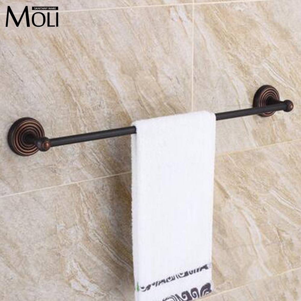 2730 watch more here 60cm bathroom accessories bronze wall mounted towel rack - Bathroom Accessories Towel Rail