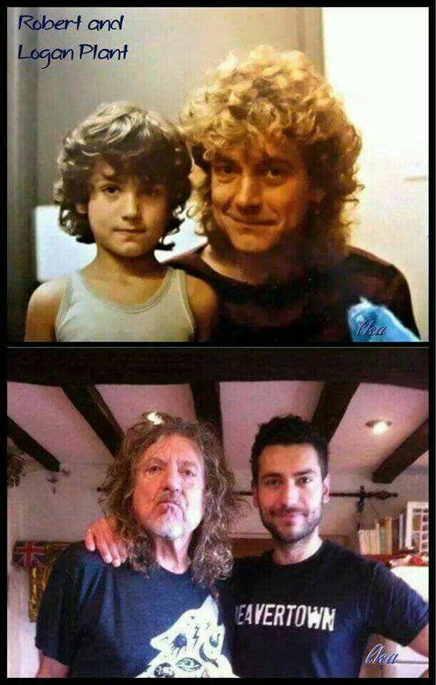Robert Plant & son Logan Plant... Then & now