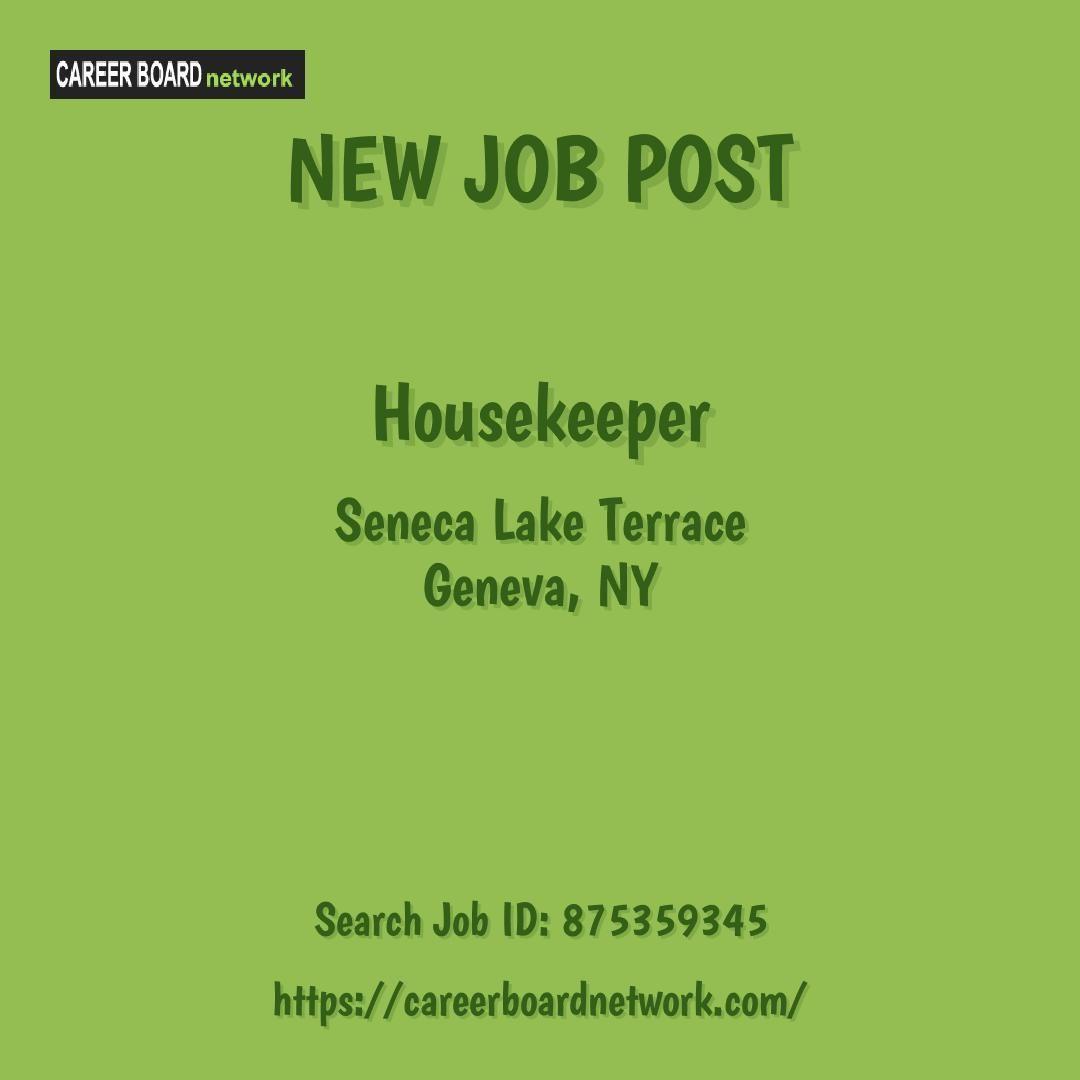 Housekeeper seneca lake terrace geneva ny recruitment