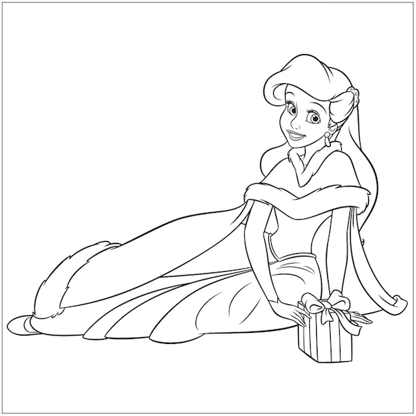 Christmas Coloring Pages Princess Coloring Pages Disney Princess Coloring Pages Ariel Coloring Pages