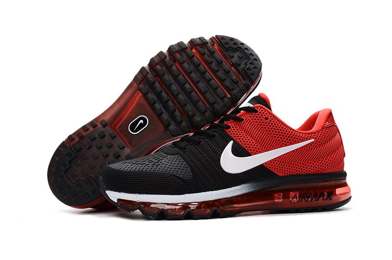 e0c28efe48df Cheap Nike Air Max 2017 Leather Black Red White Shoes