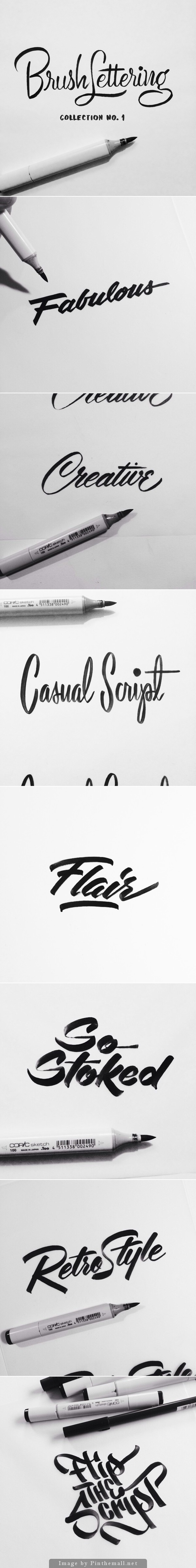 Brush Lettering Collection No  Is An Exploration Of Achieving