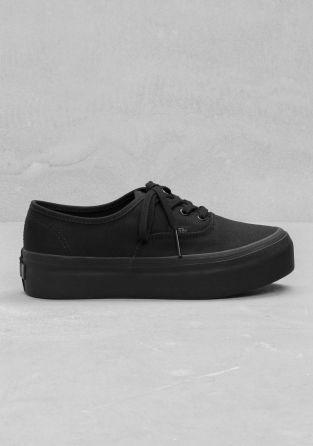 vans authentic platform all black