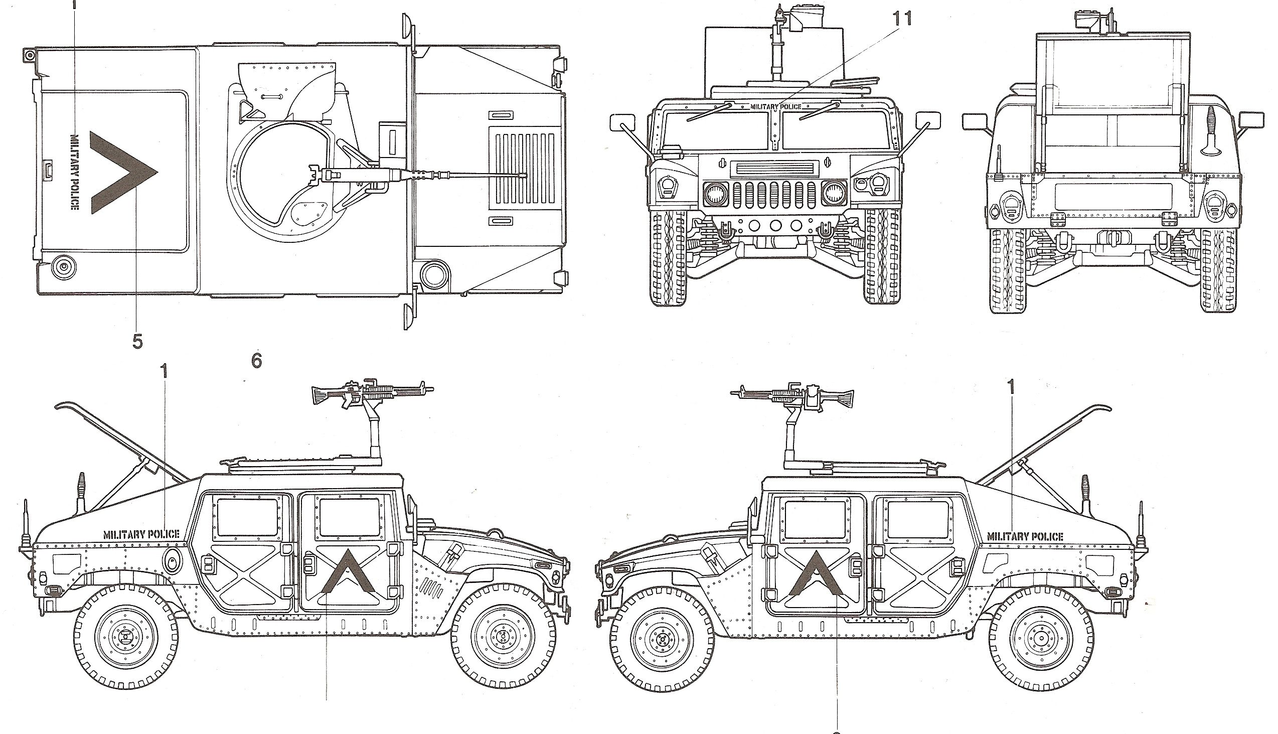 Hummer H1 Blueprint