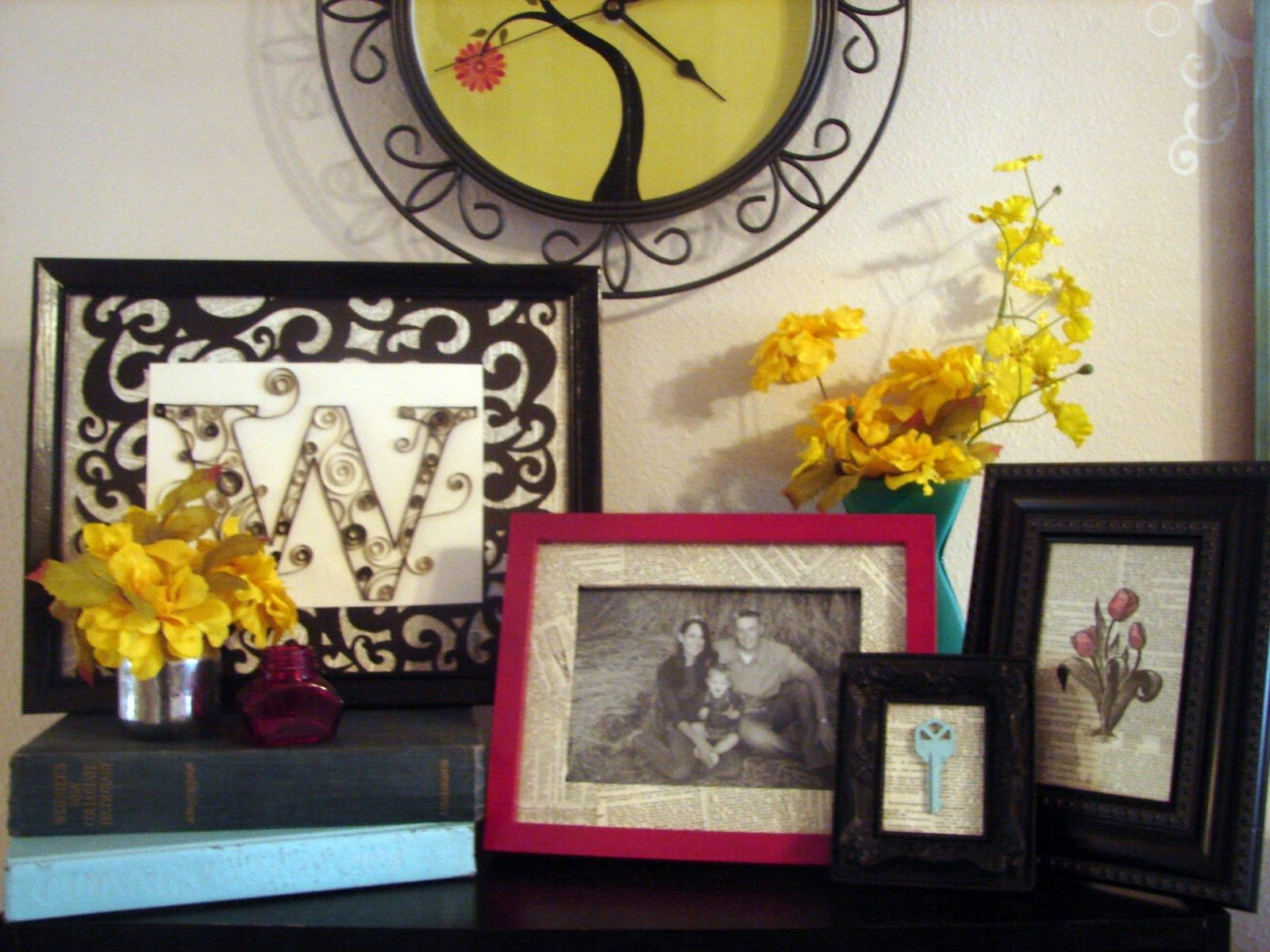 Like idea of framed letter nice change up in a grouping of photos