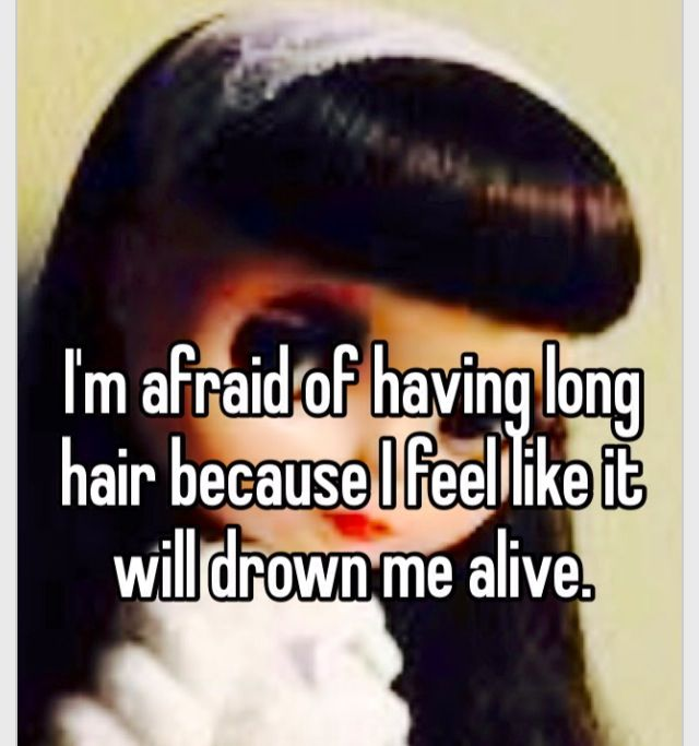 This happens when you go swimming with long, black hair and don't wear it up.