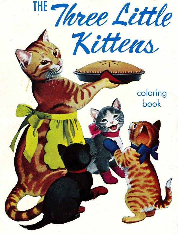 The Three Little Kittens Cats Illustration Cute Cats And Kittens Cat Illustration