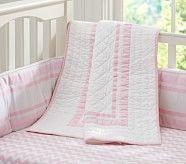 Harper Chevron Nursery Quilt Bedding Set Crib Ed Sheet Toddler Skirt Light Pink