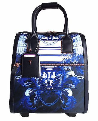 Ted Baker Suitcase Travel Bag Small Blue Amp White Floral Rose