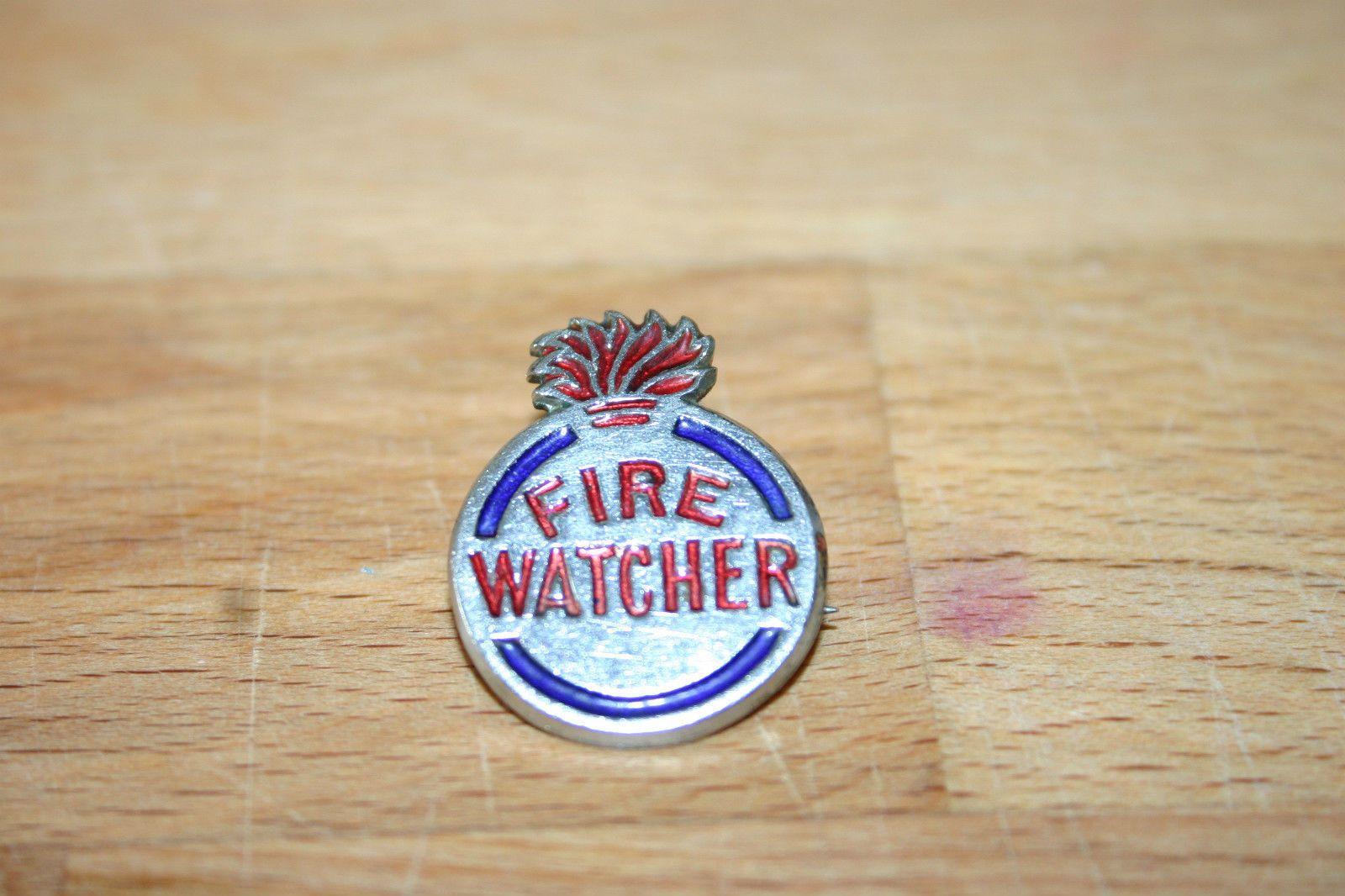 Toy box metal decor wall art shop play children store a180 ebay - Cww2 Vintage Fire Watcher Home Front Enamel Pin Badge Ebay