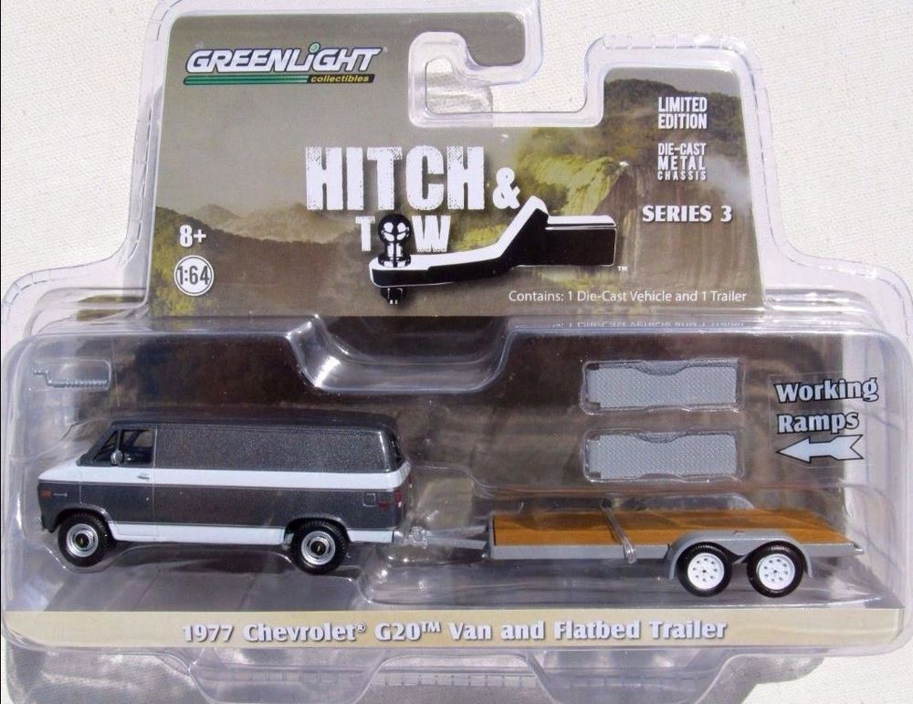 Greenlight Hitch & Tow Series 3 1977 Chevy G20 Van Flatbed ...