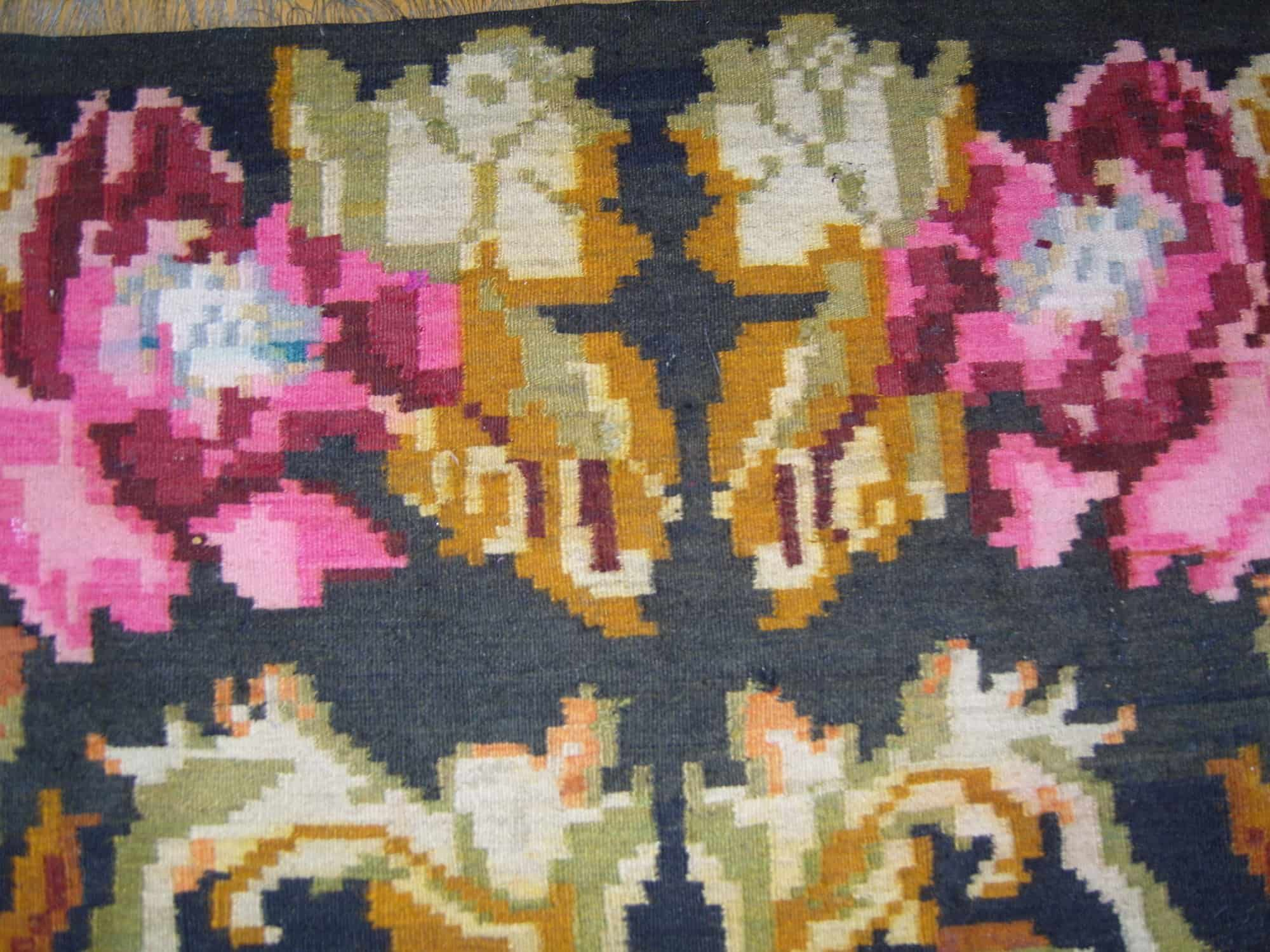 Tapis Moldave Rosenkelim Rozenkelim Rosenteppich Tapis Boho Tapis Azilal Tapis Beni Ouarain Tapis Boucherouite Tapis Grande Taille Tapis Floral Tapis Rose Kelim