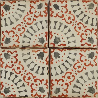 Paris Metro Hand Painted Terracotta Tile Tabarka Studio