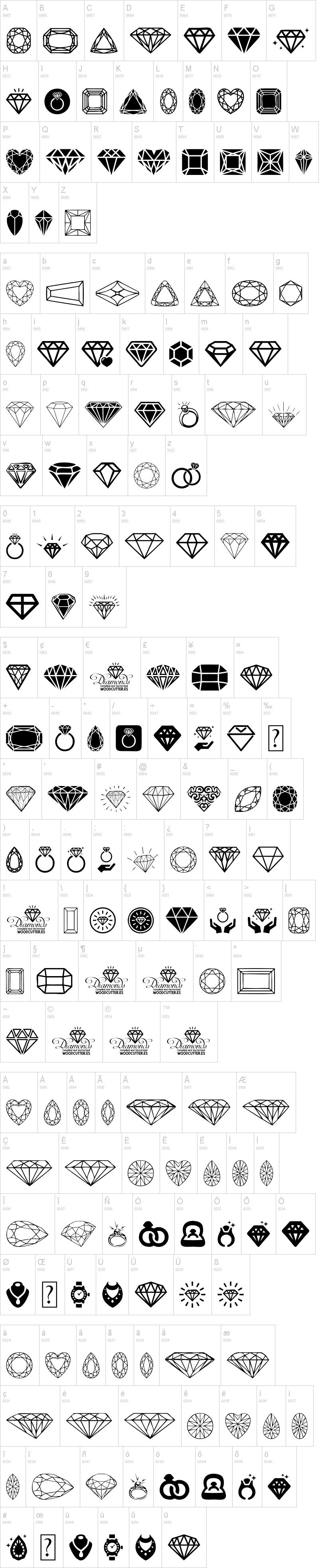 Diamonds Fonts
