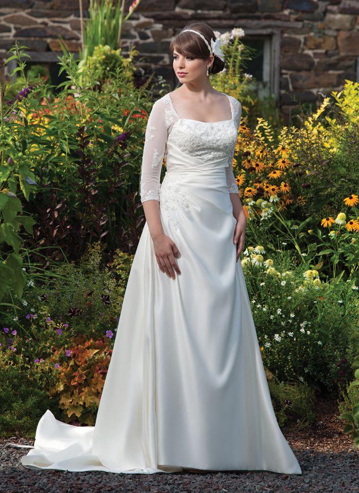 Sincerity plus wedding dress style 4543 Stretch net 3