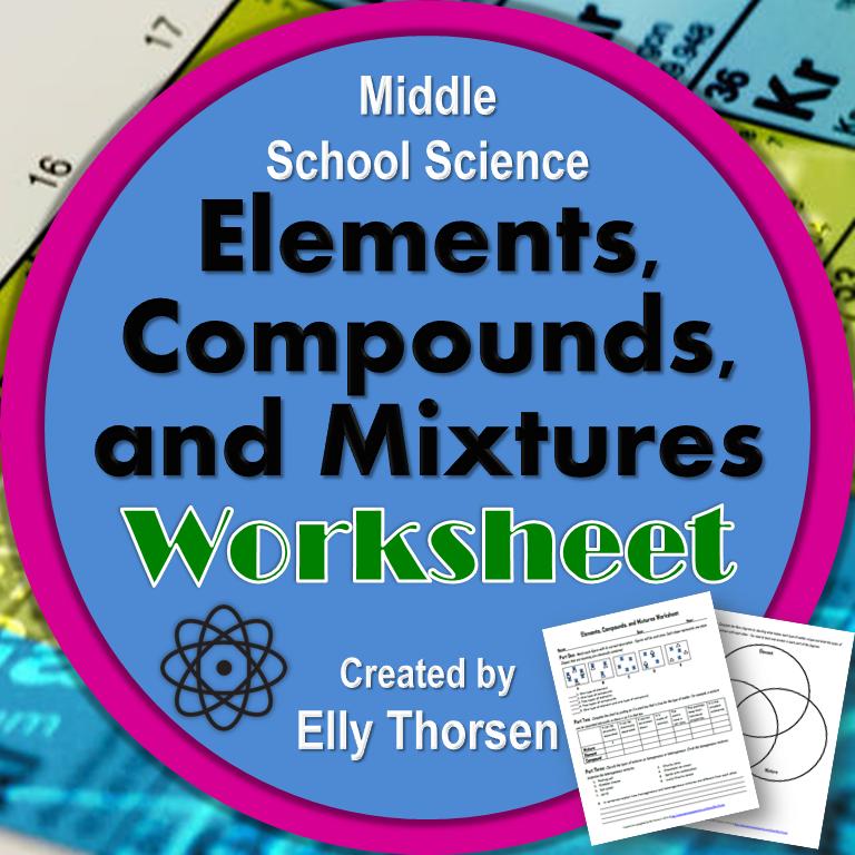 elements compounds and mixtures worksheet worksheets students and chemistry. Black Bedroom Furniture Sets. Home Design Ideas