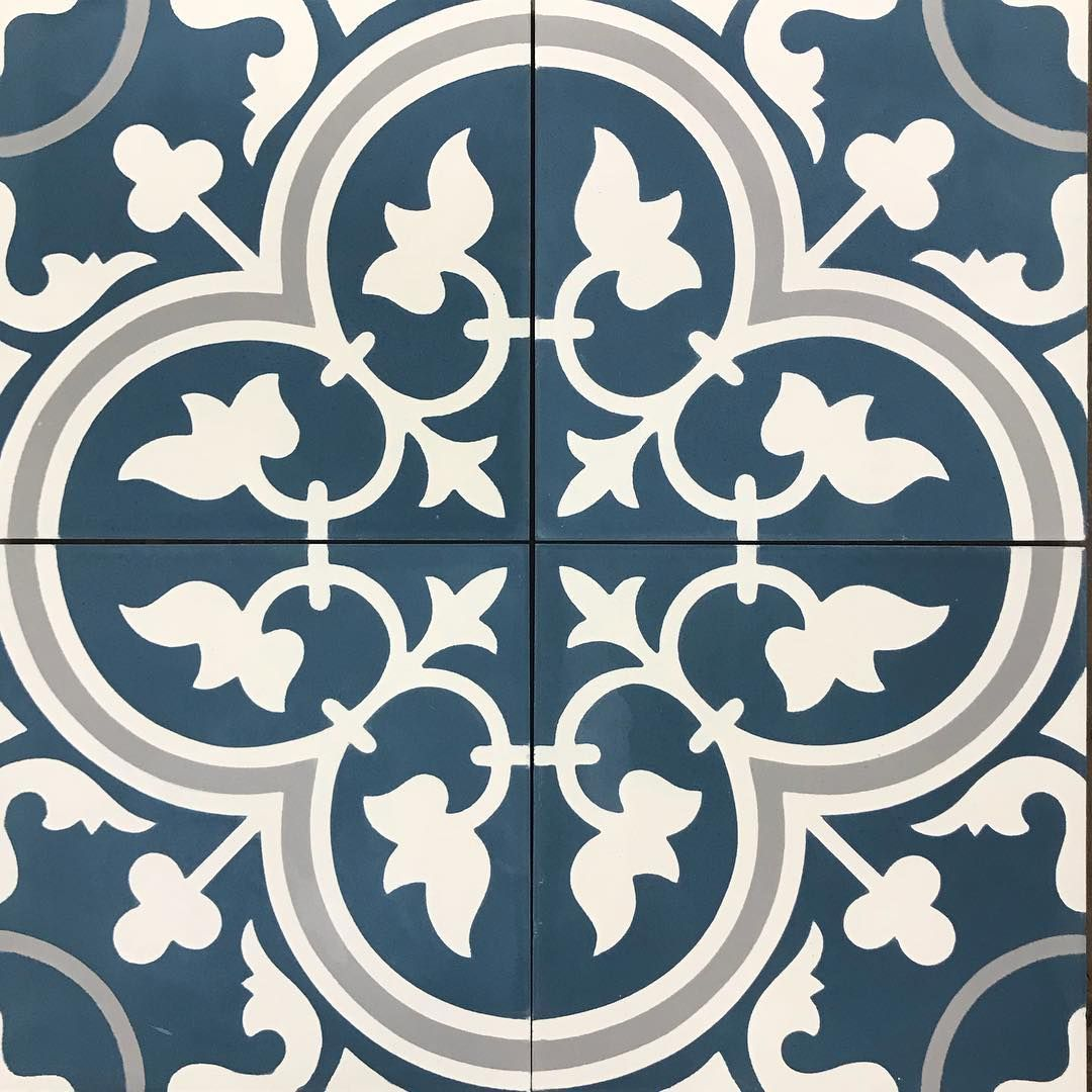 1 204 likes 19 comments cement tile shop for Blue and white cement tile