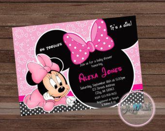 20 Baby Minnie Mouse Baby Shower Thank You Cards By FAVORSXPRESS