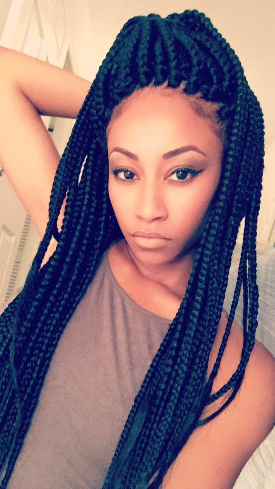 jumbo long box braids hair &