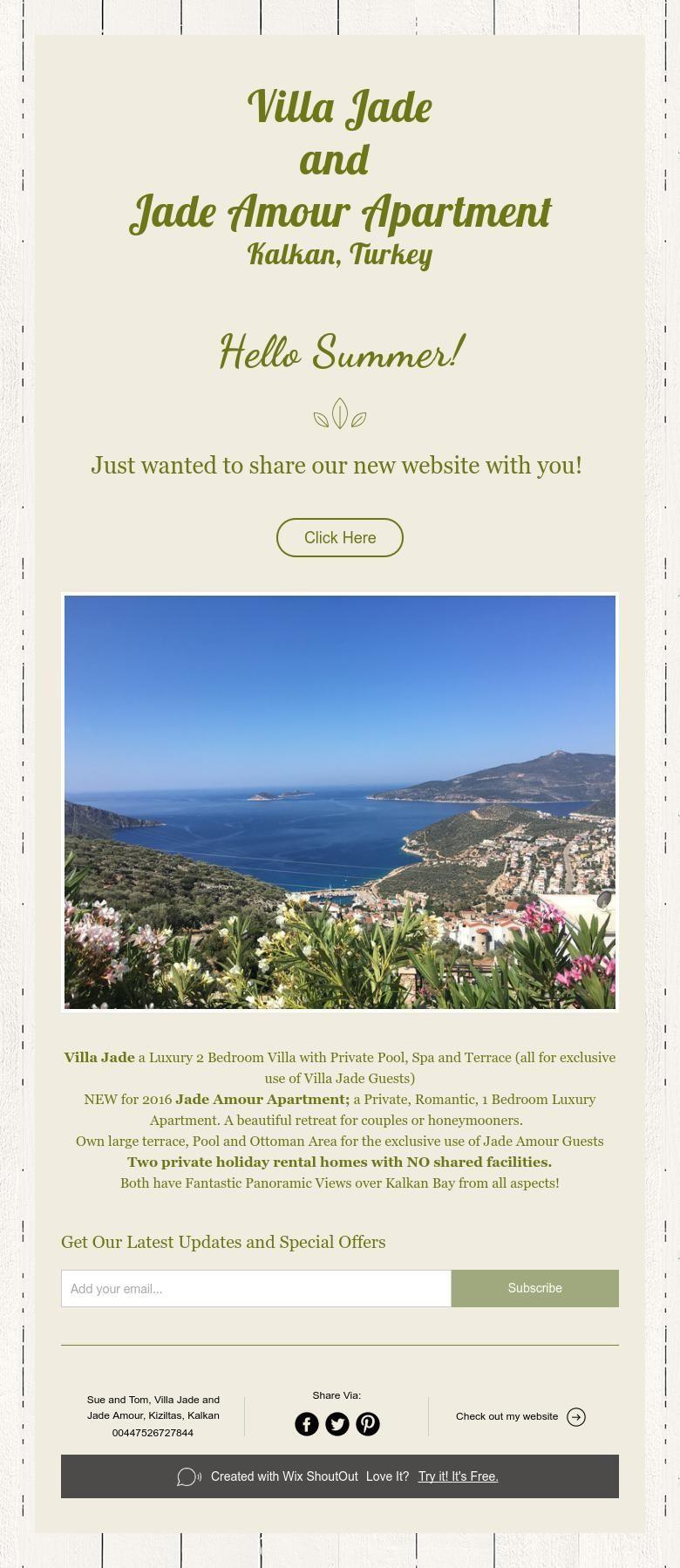 Villa Jade And Jade Amour Apartment Kalkan, Turkey Hello Summer!