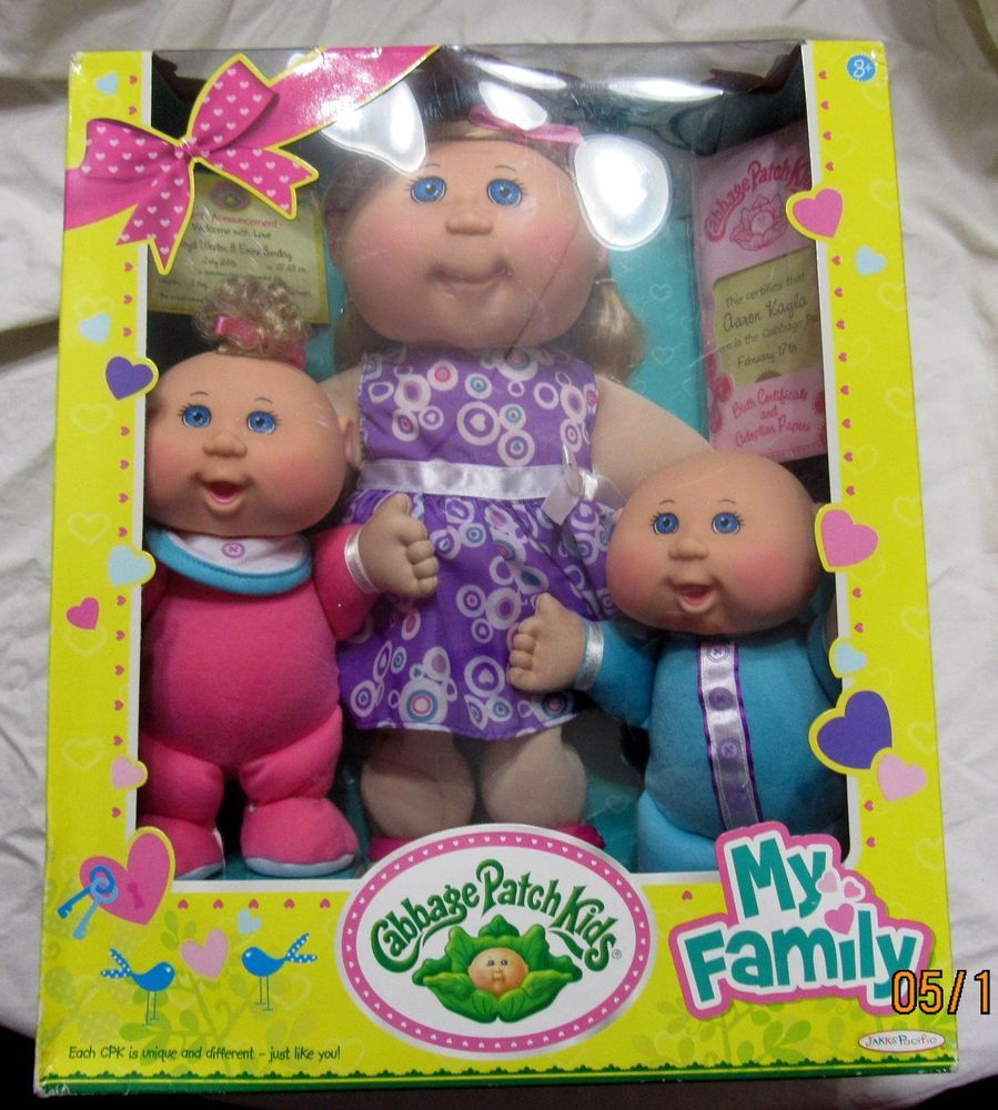 Cabbage Patch Kids Sealed My Family 3 Dolls Set Exclusive Jakks Pacific Babyland Jakkspacific Dolls Cabbage Patch Kids Dolls Cabbage Patch Kids Doll Sets