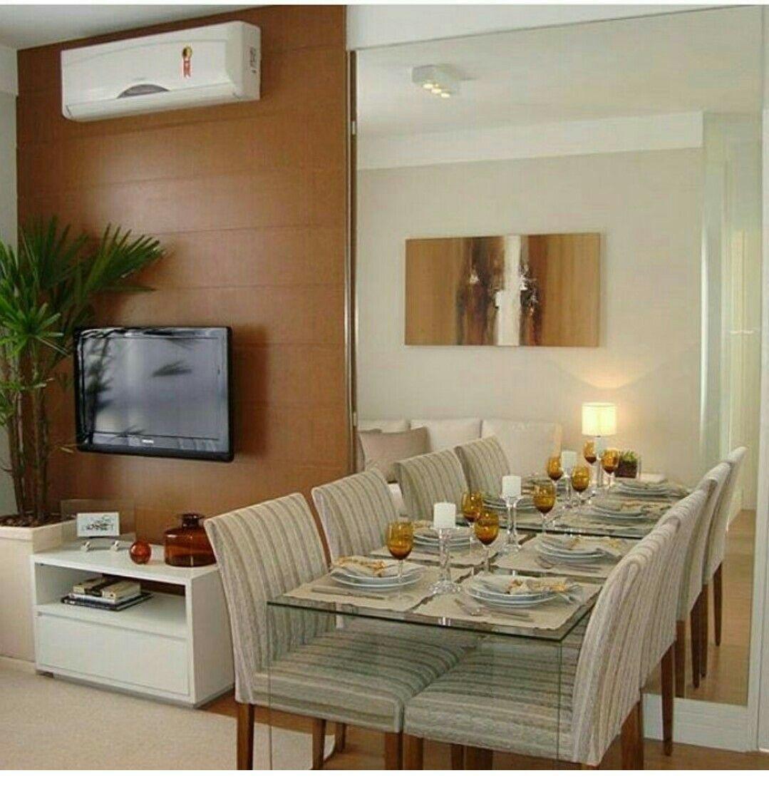 Pin de marta hernandez en salas peque as en 2018 for Comedor y sala de estar decorados
