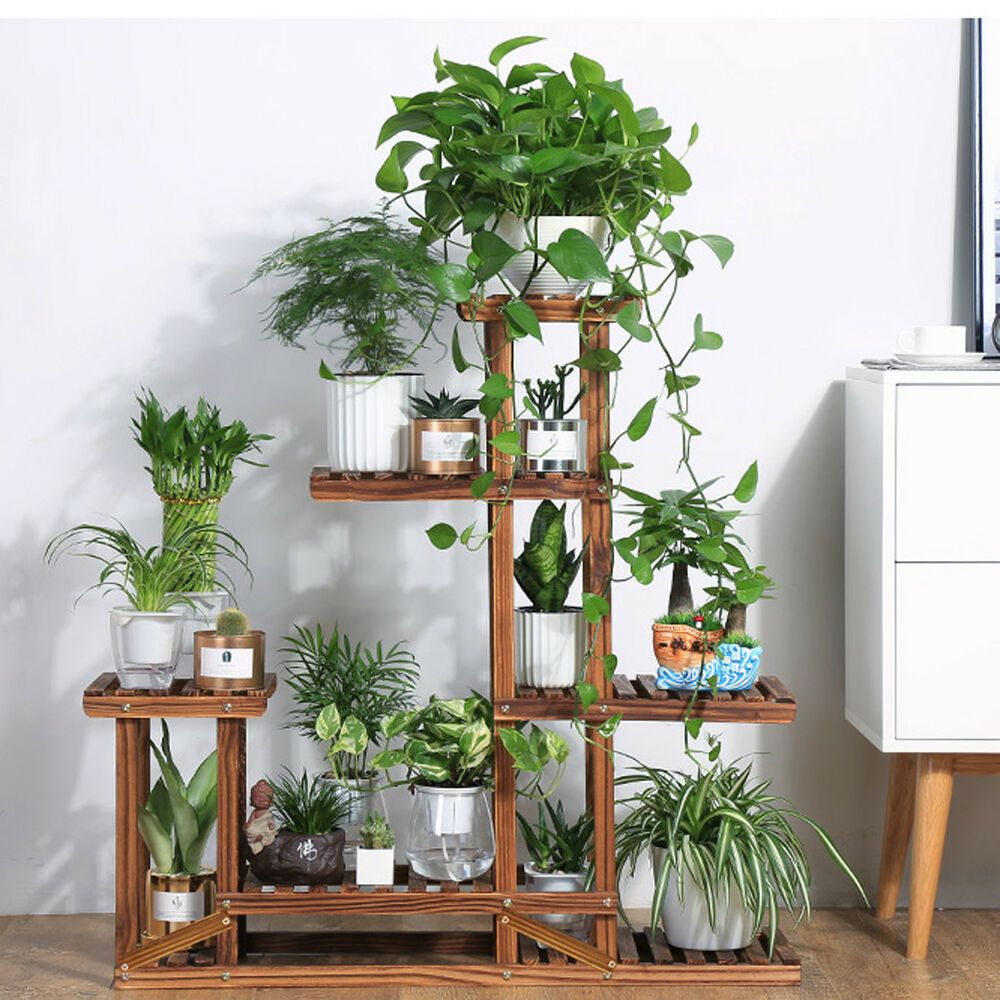Flower Stand Plant Garden Outdoor Display Shelf Storage Pot Table Furniture Patio Ebay House Plants Decor Plant Stand Indoor Plant Decor