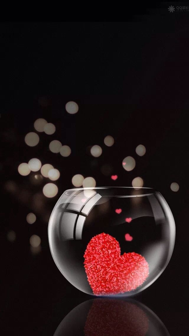 Glass jar of hearts #iPhone #5s #Wallpaper http://www ...