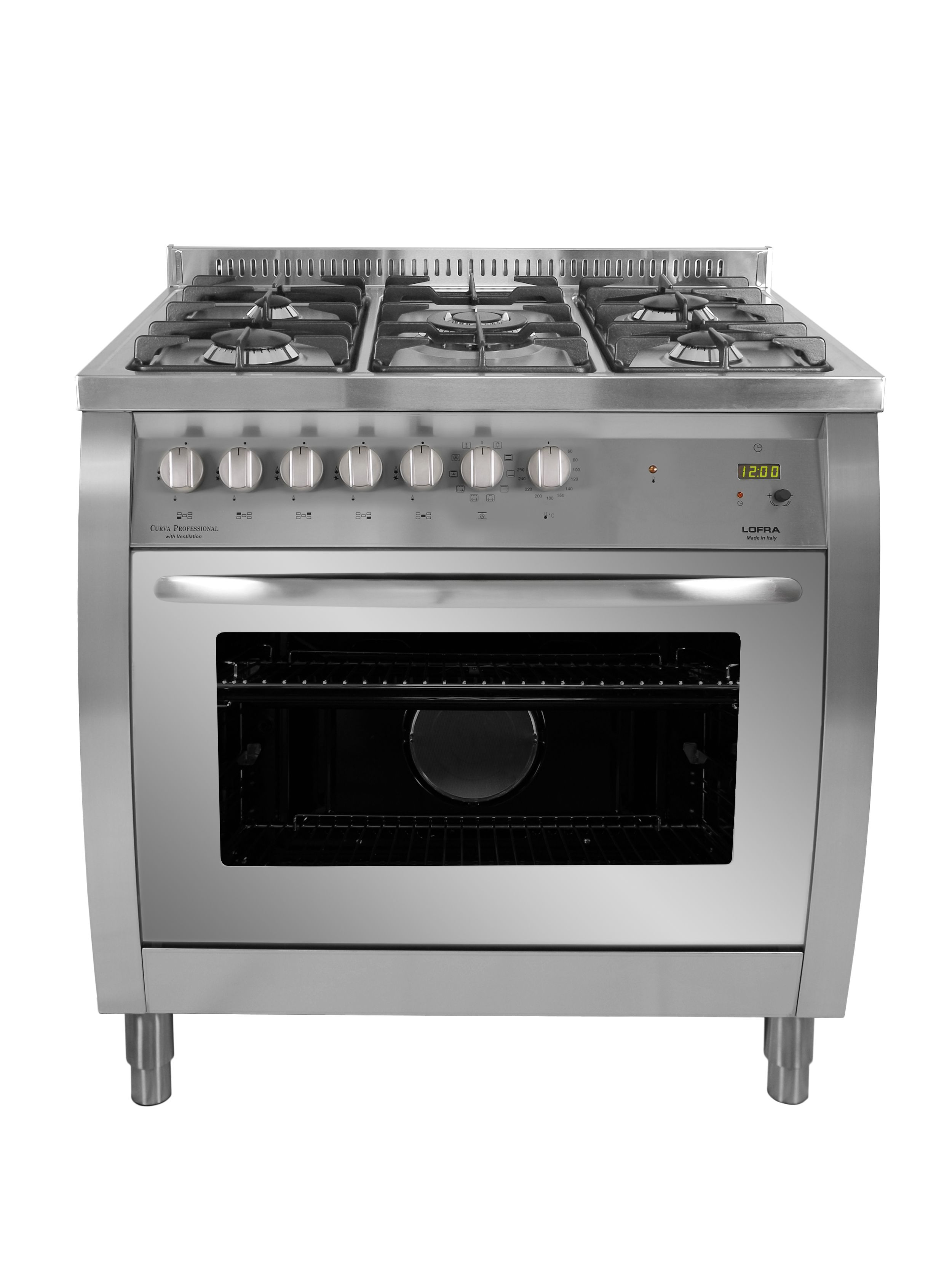 Lofra Curpro90Ss Curva Professional 90 Stainless Steel Dual Fuel