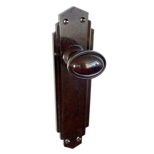 Walnut Door Knobs : Walnut Bakelite BROLITE Stepped Oval Door Knobs ...
