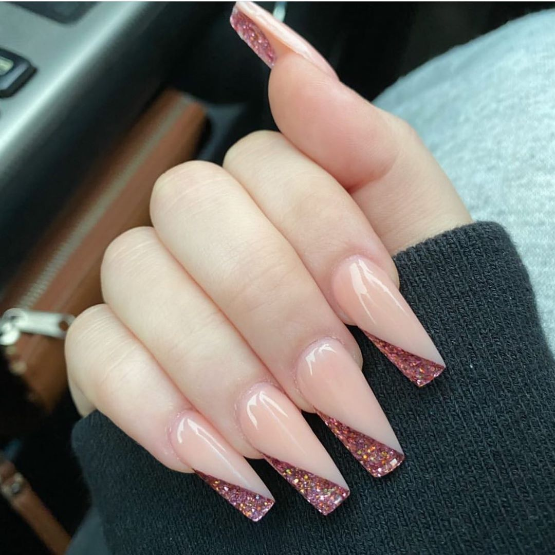 110 Gorgeous Nail Art Designs Ideas For Valentine S Day In 2020 In 2020 Pale Pink Nails Coffin Shape Nails Press On Nails
