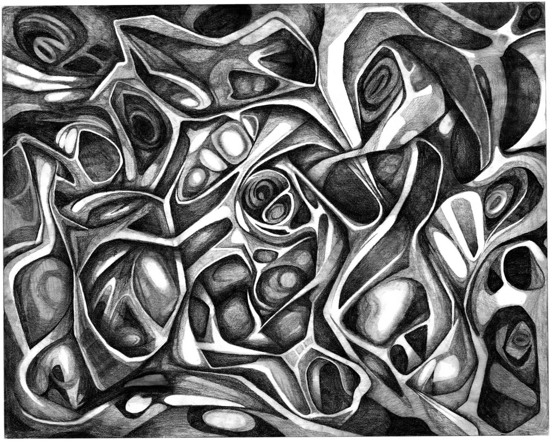 simple abstract pencil drawings - Google Search | Drawing ...