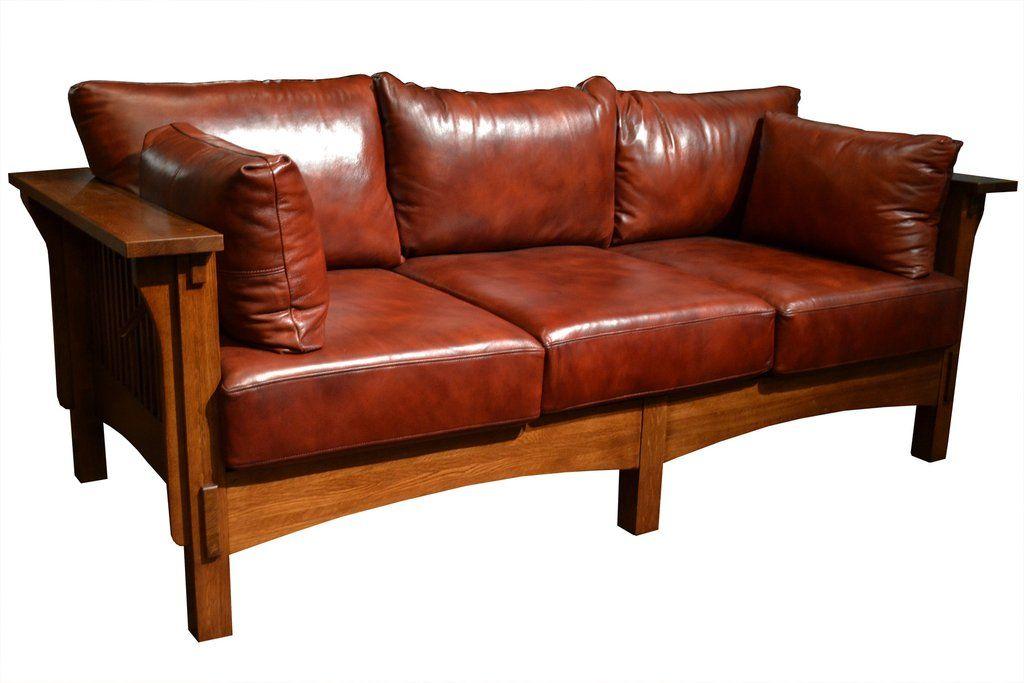 Crofter Style Oak And Leather Sofa Black Leather Contemporary Sofa Wood Sofa Leather Sofa