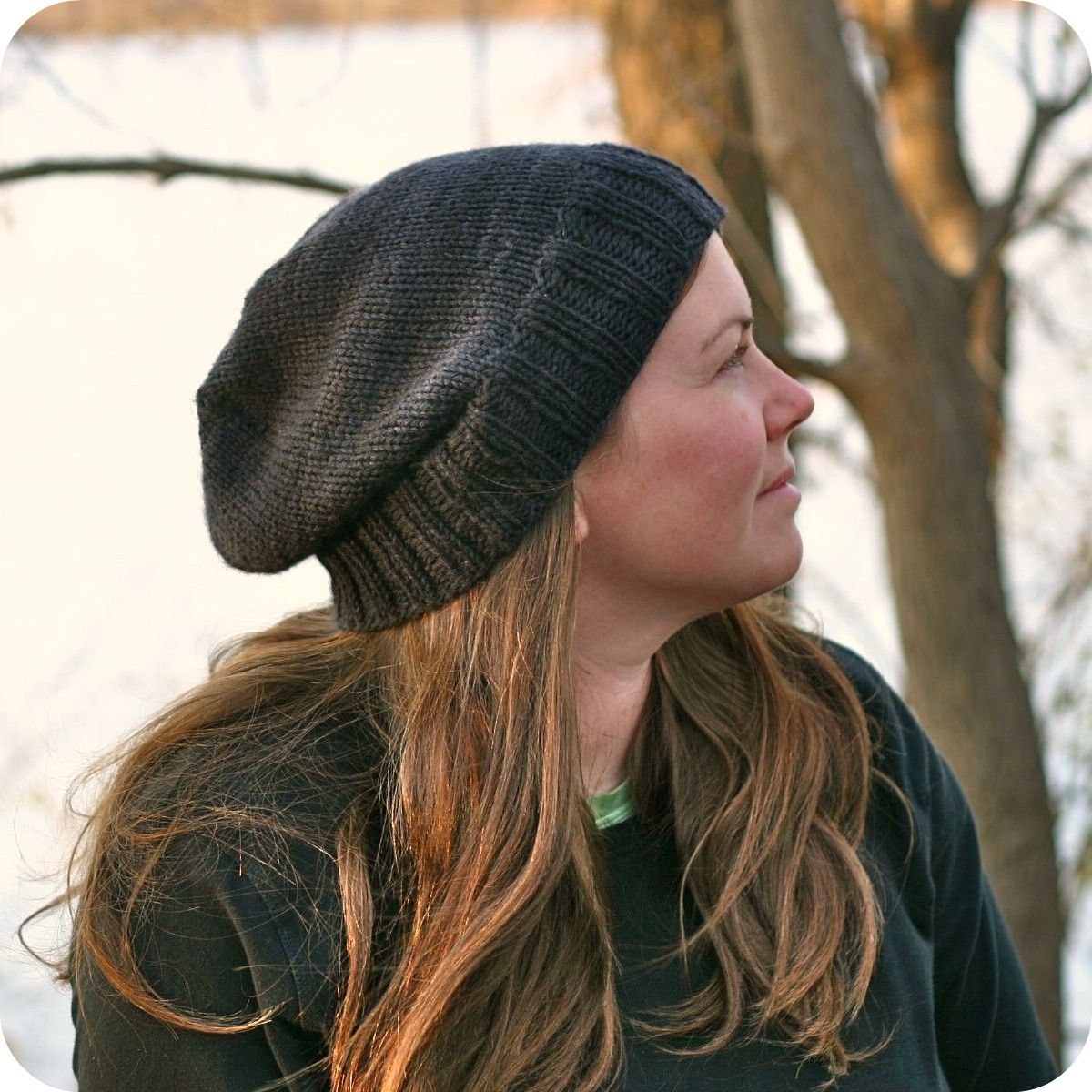 Knitting Pattern - Kendall Slouchy Beanie - Hipster - Knit ...