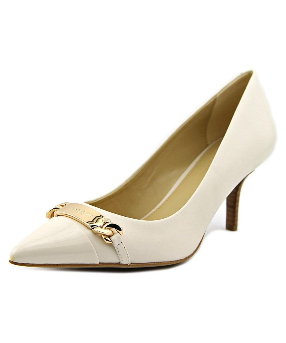 5ad27d6cbb9 COACH Coach Bowery Women Pointed Toe Leather White Heels .  coach  shoes   pumps   high heels