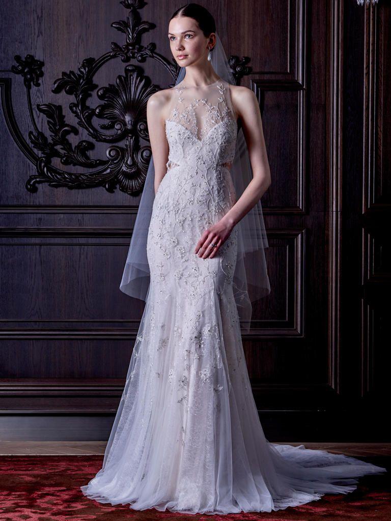 Alice in wonderland themed wedding dress  Monique Lhuillier Spring Wedding Dresses Show Us the Dark Side of